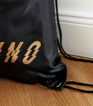 Techno Bag with Gold Print