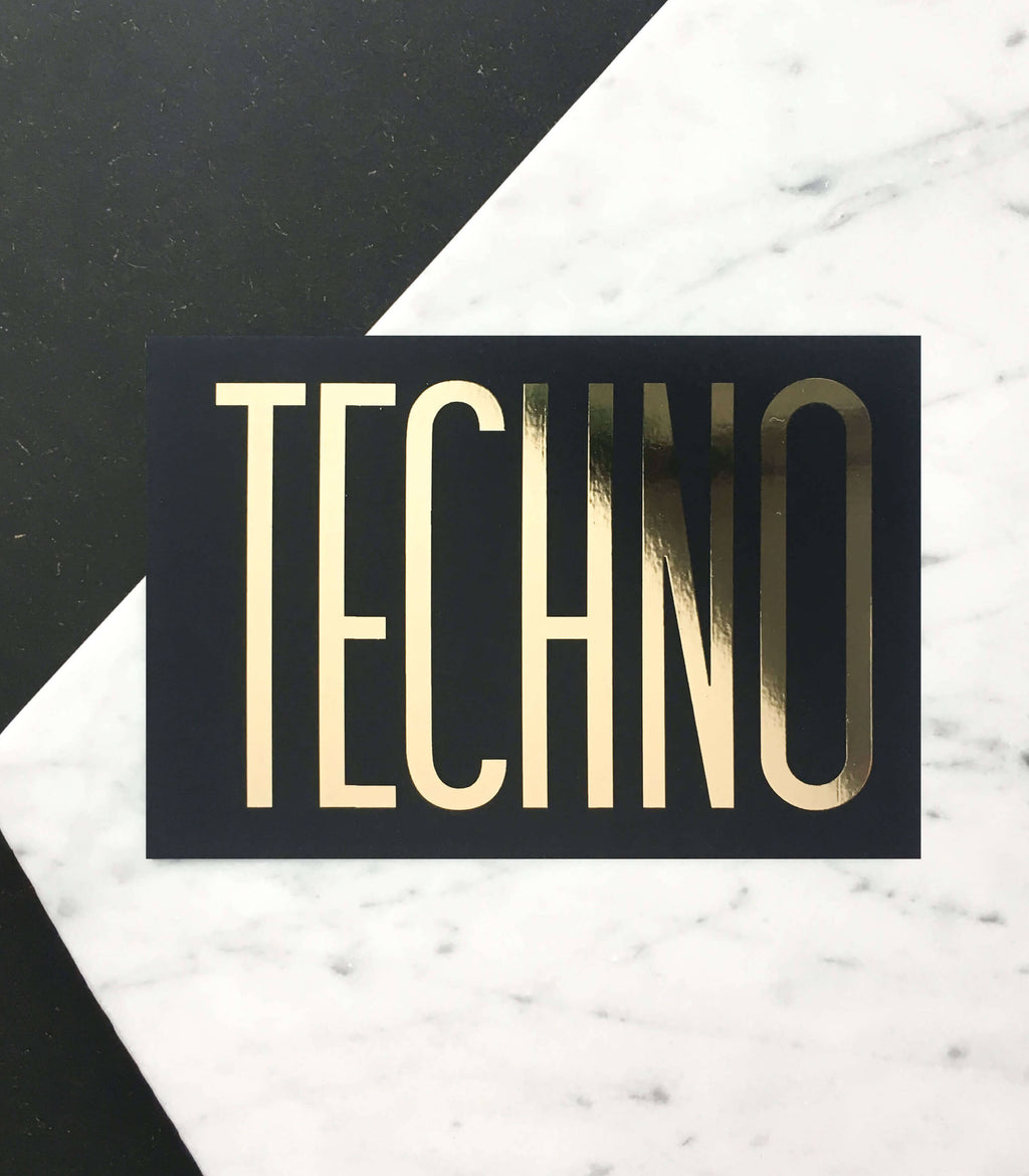 """Techno"" Mini Art Print"