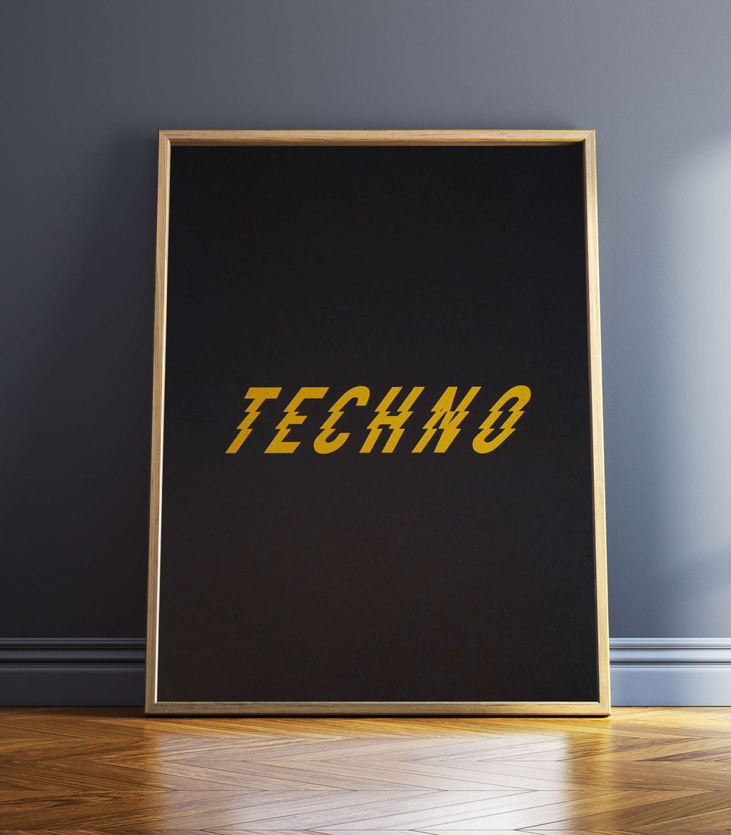 Techno Art Print