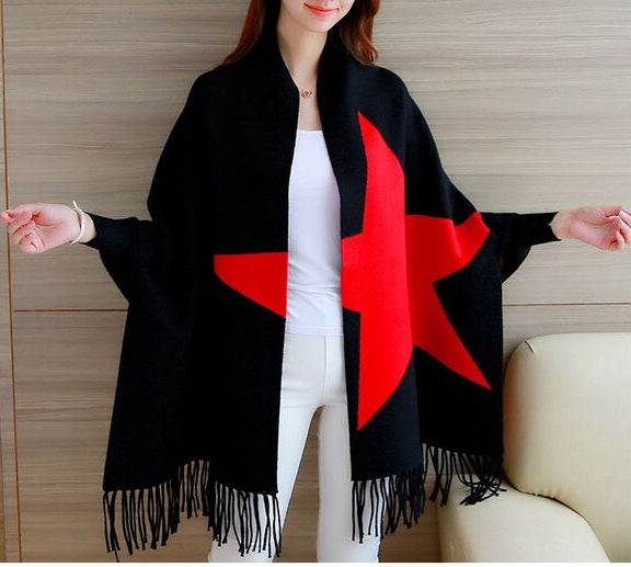 Starred Scarf with Sleeves
