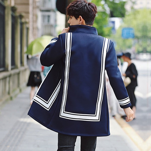 Navy Striped Jacket