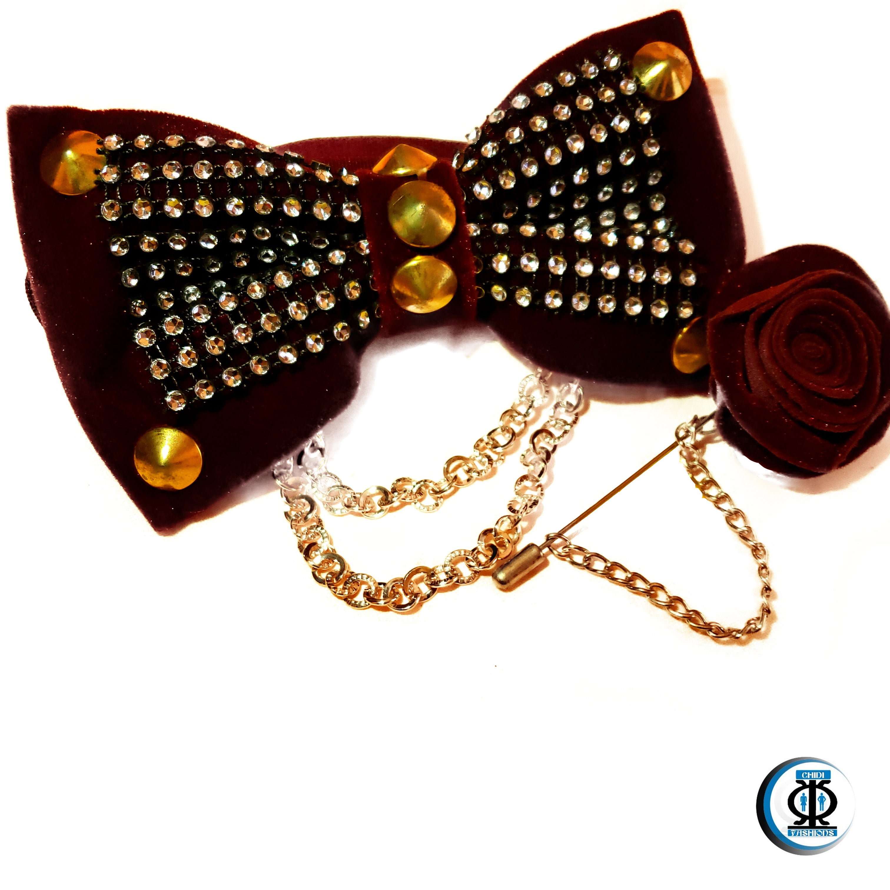 Studded Bow Tie