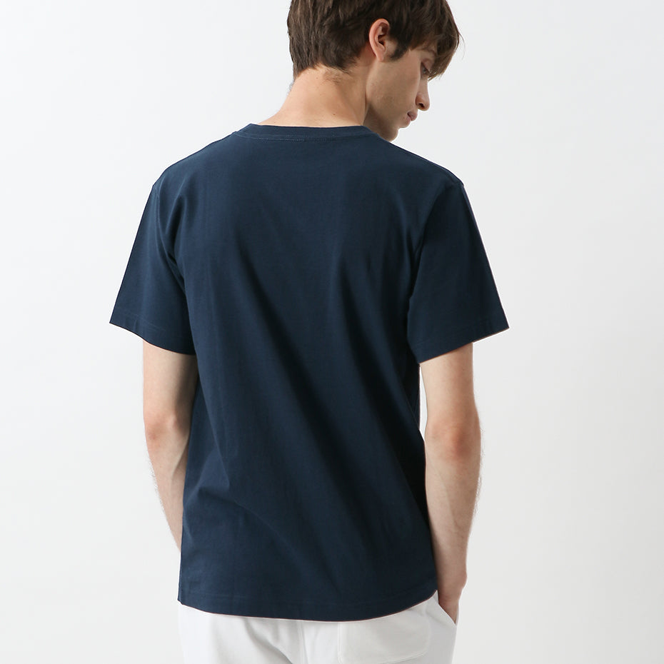 Champion Japan Embroided Multicolour Logo Tee Navy