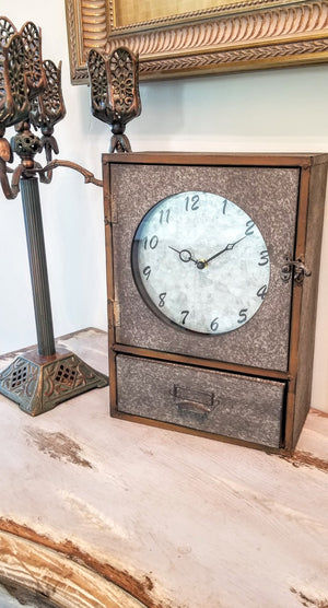 Clock Cabinet With Drawer
