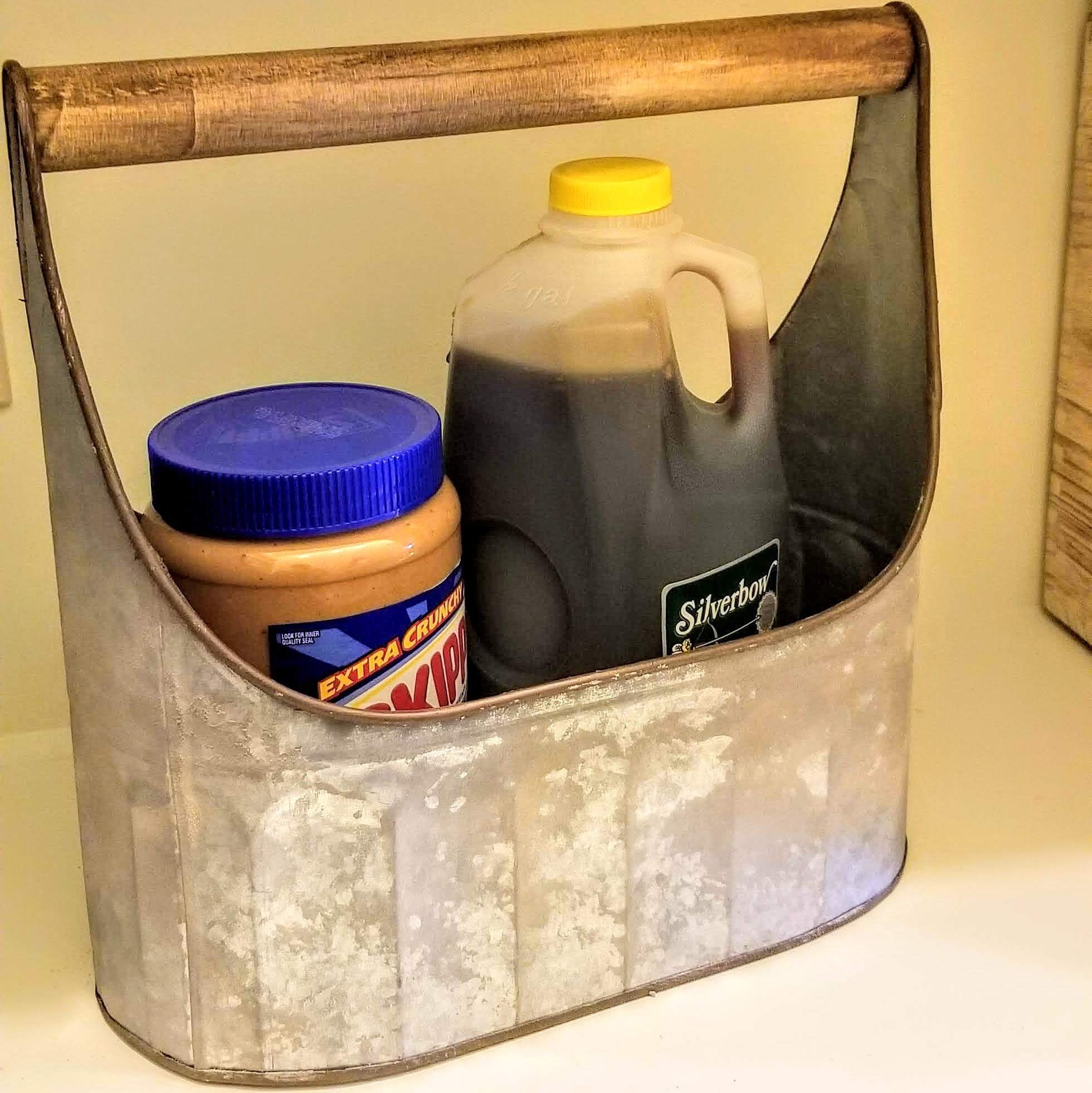 Oval Caddies With Wood Handles In Two Sizes Large/Small