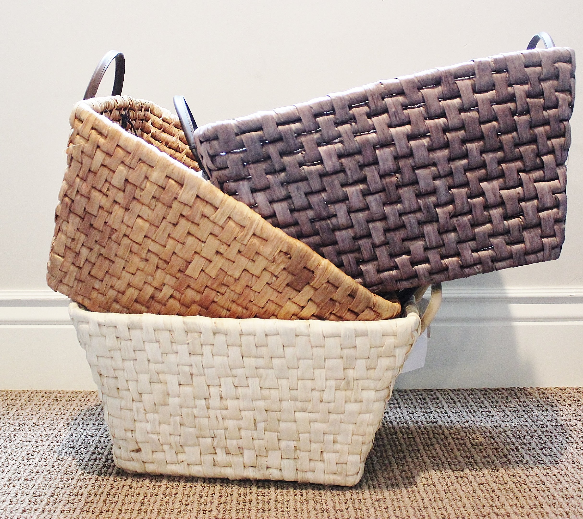 Rectangle Storage Baskets With Handles