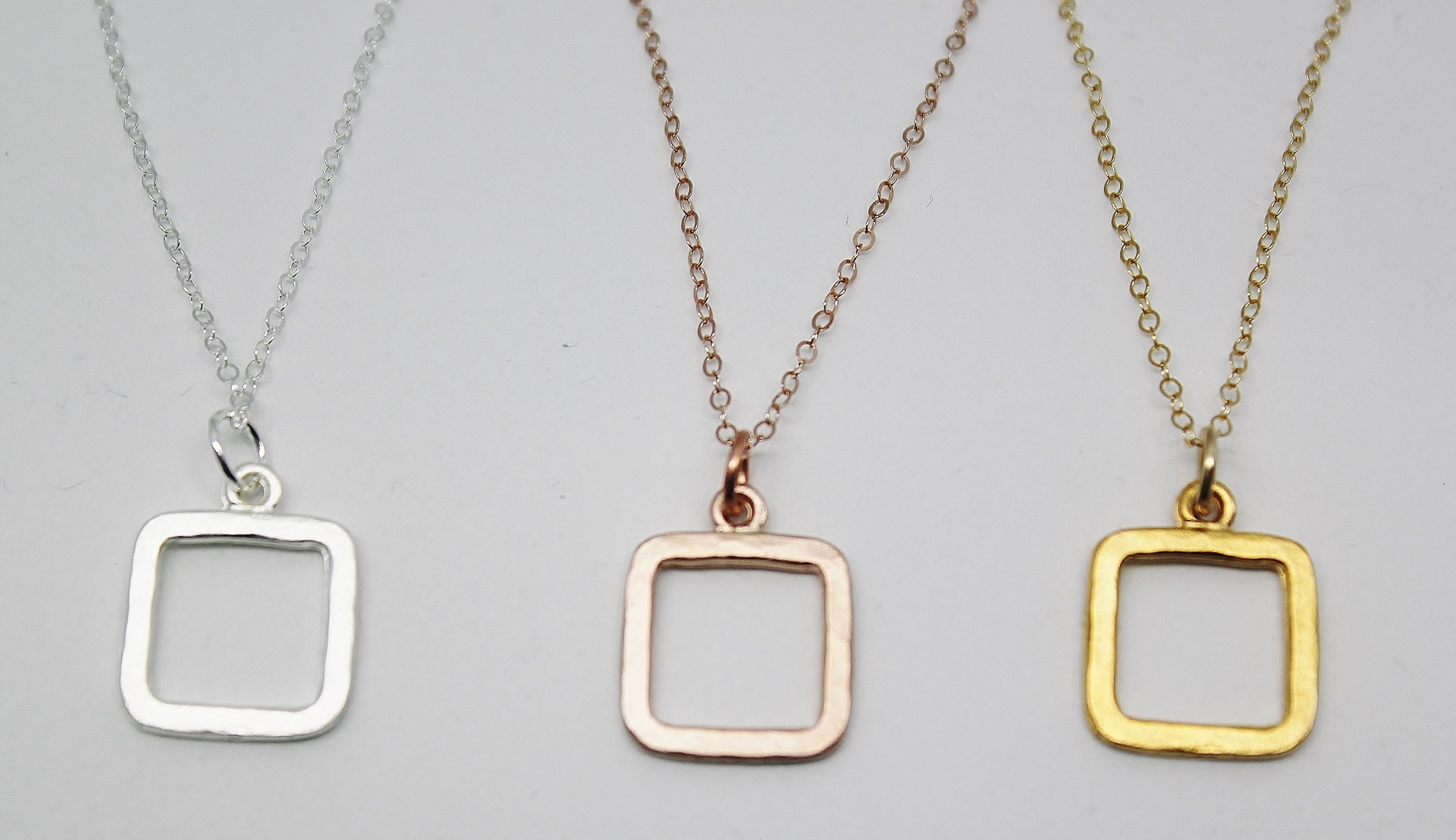 SMALL SQUARE PENDANTS