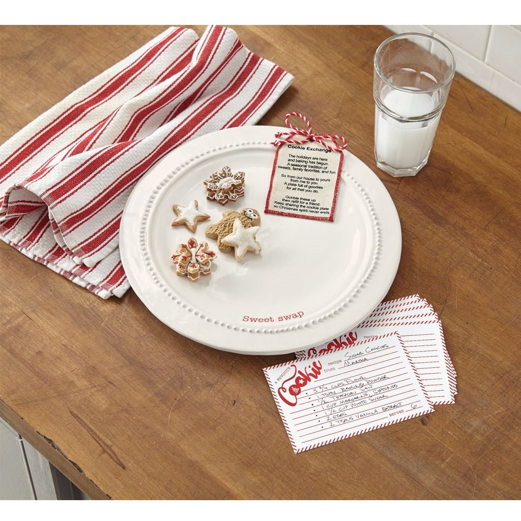Mud Pie COOKIE EXCHANGE PLATE SET