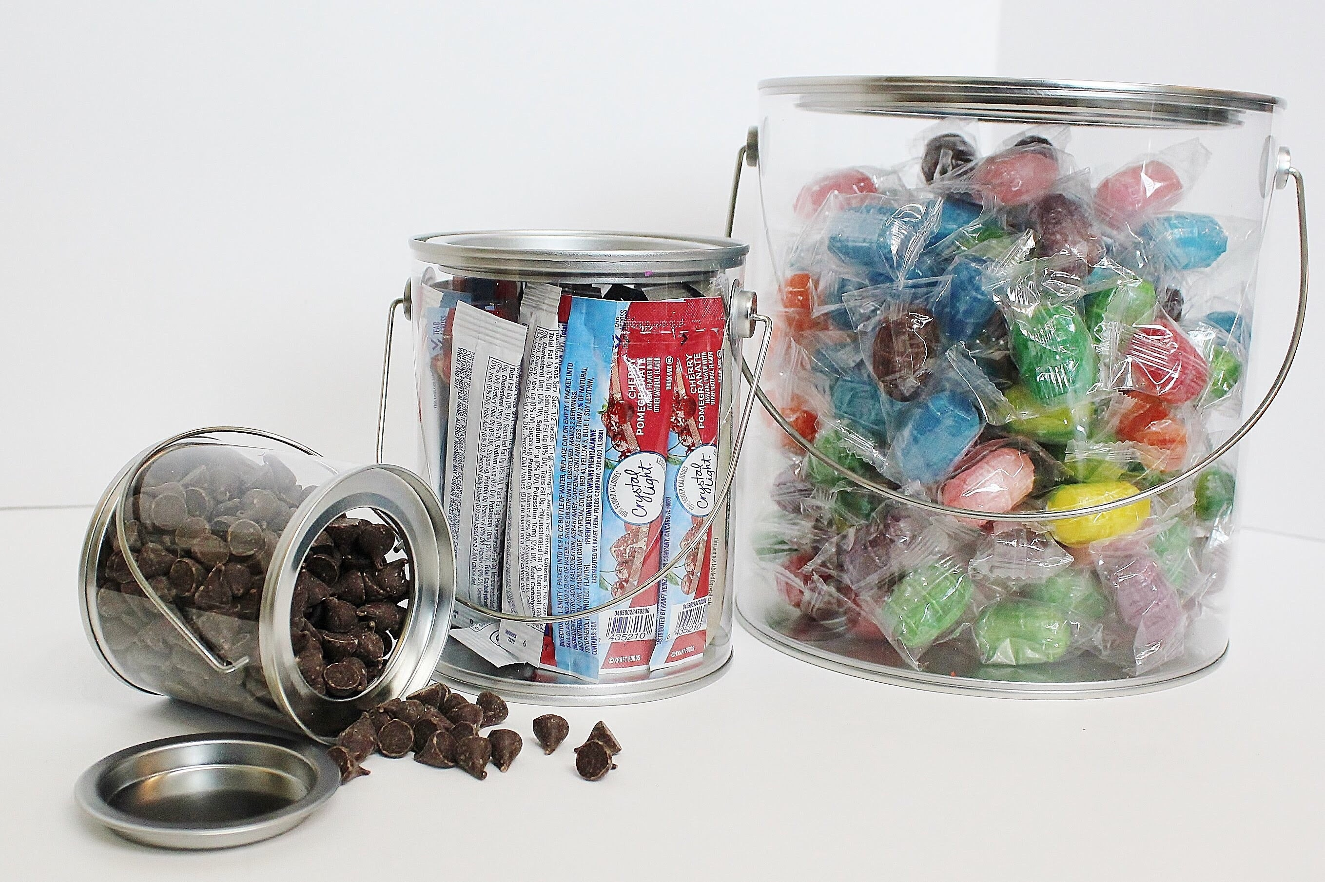 Clear Pail Storage Set