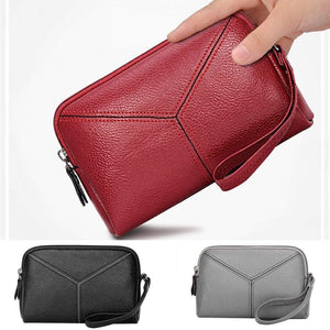 Boutique Purse Store Coin Purses New Vintage Women Wallet With Zipper Coin Pocket Female High Capacity Purse Leather Brand Retro Ladies Long Card Clutch 817|Coin Purses