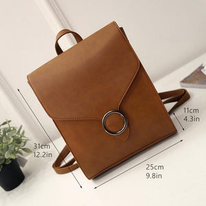 Jenary Backpacks Brown Retro Design Backpack