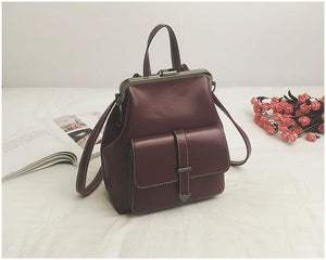 Jenary Backpacks Burgundy Manila Backpack