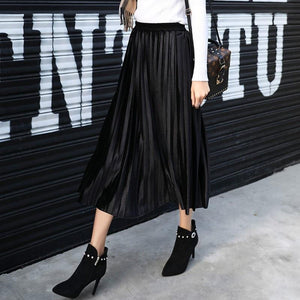 Jenary Home Long velvet pleated skirt