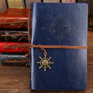 Jenary Journal Blue / Large 165x235mm Compass Leather Journal