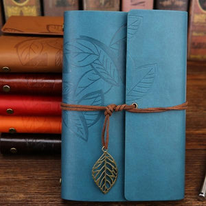 Jenary Journal Blue / Small 105x145mm Leaf Leather Journal