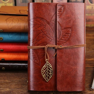 Jenary Journal Brown / Small 105x145mm Leaf Leather Journal