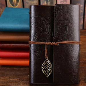 Jenary Journal Coffee / Small 105x145mm Leaf Leather Journal