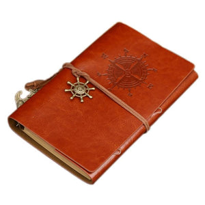 Jenary Journal Compass Leather Journal