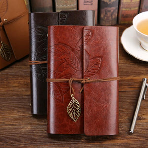 Jenary Journal Leaf Leather Journal