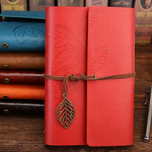 Jenary Journal Red / Small 105x145mm Leaf Leather Journal