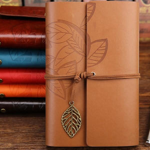 Jenary Journal Yellow / Small 105x145mm Leaf Leather Journal