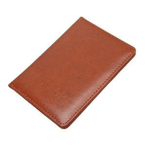 Jenary Passport Cover Brown Simple Passport Cover