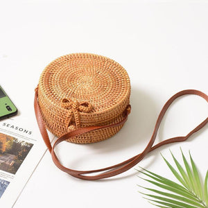 Jenary Rattan Bag Rattan Solid Round Design Rattan Bag