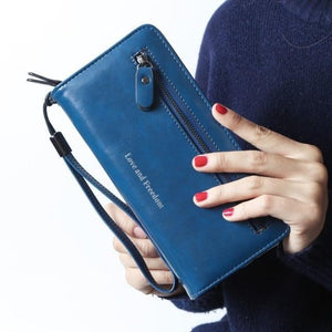 Jenary Wallet Blue 'Love & Freedom' Fashion Wallet
