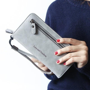 Jenary Wallet Gray 'Love & Freedom' Fashion Wallet