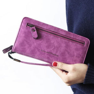 Jenary Wallet Purple 'Love & Freedom' Fashion Wallet