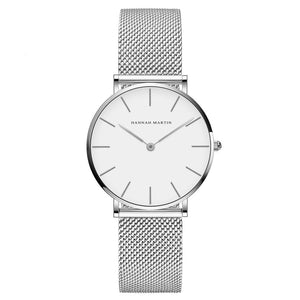 Jenary Watch Silver & Silver Luxury Hannah Martin Mesh Band Watch