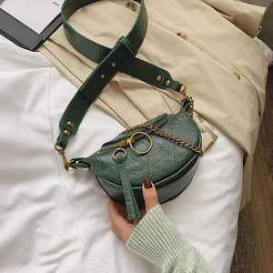LEFTSIDE Official Store Top-Handle Bags Green / 21cmx13cmx8cm Fashion Quality PU Leather Crossbody Bags For Women 2020 Chain Small Shoulder Messenger Bag Lady Travel Handbags and Purses|Top-Handle Bags