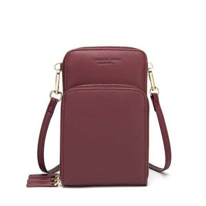 TINKIN Official Store Shoulder Bags C-Burgundy Drop Shipping Colorful Cellphone Bag Fashion Daily Use Card Holder Small Summer Shoulder Bag for Women|Shoulder Bags