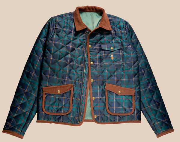 Plaid Quilted Jacket