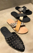 DLF Signature Studded Slippers