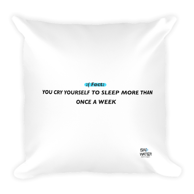 SAD FACT THROW PILLOW