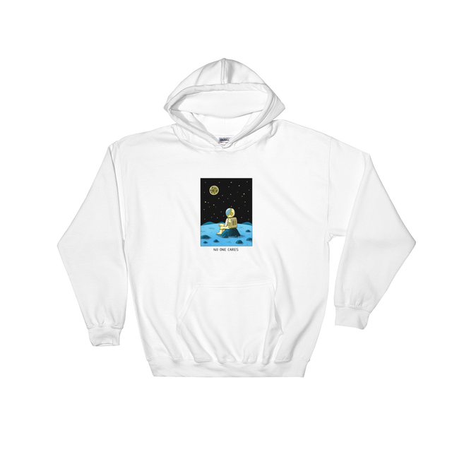 JACK TEAGLE x SAD WATER HOODED SWEATSHIRT (ASTRONAUT, NO ONE CARES)