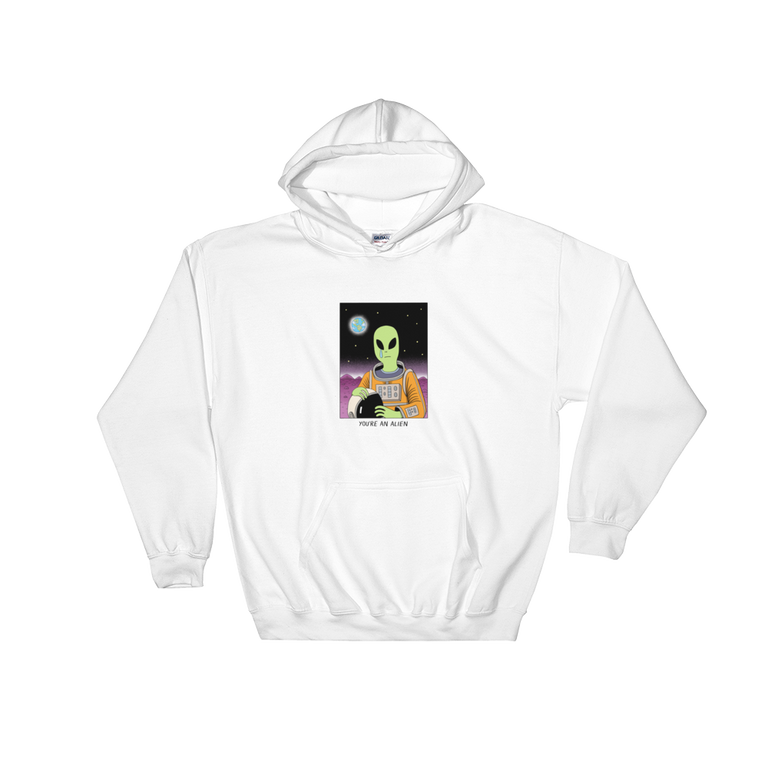 JACK TEAGLE x SAD WATER HOODED SWEATSHIRT (ALIEN, NO ONE CARES)