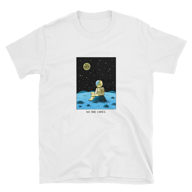 JACK TEAGLE x SAD WATER T-SHIRT (ASTRONAUT, NO ONE CARES)