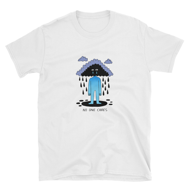 JACK TEAGLE x SAD WATER T-SHIRT (CLOUD, NO ONE CARES)