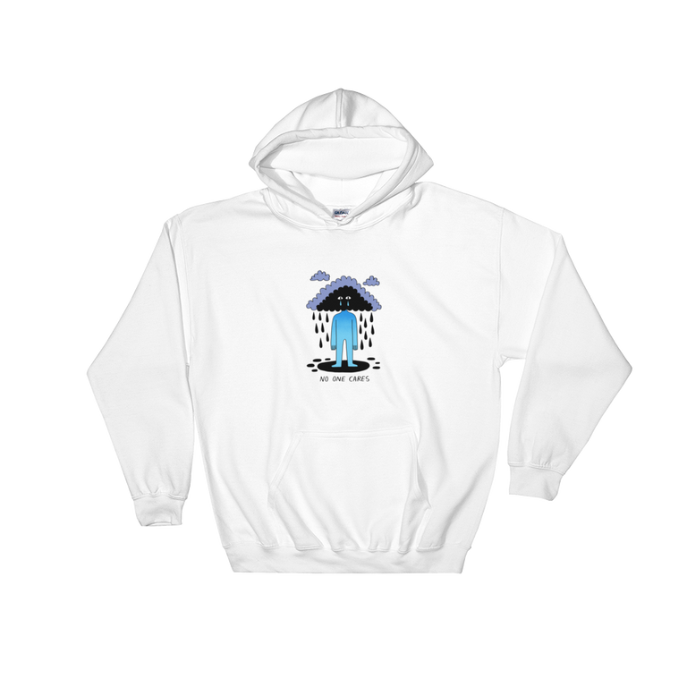 JACK TEAGLE x SAD WATER HOODED SWEATSHIRT (CLOUD, NO ONE CARES)