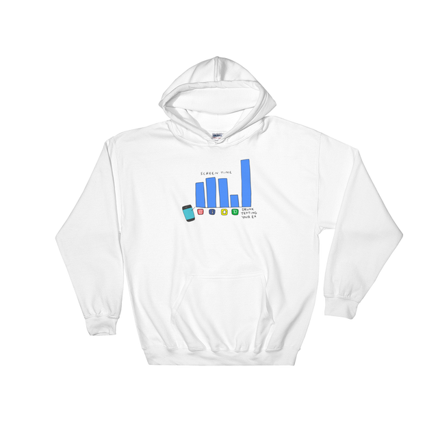 GRIPLESS x SAD WATER HOODED SWEATSHIRT