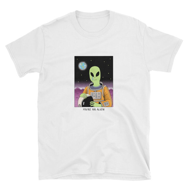 JACK TEAGLE x SAD WATER T-SHIRT (ALIEN, NO ONE CARES)