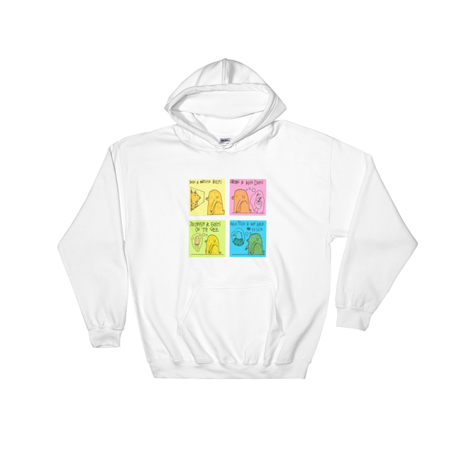 E_Merlin_M x SAD WATER HOODED SWEATSHIRT