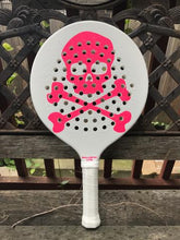 Load image into Gallery viewer, Harrow Ballistic Lite - 360 Grams - Matte White Paddle w/ Matte Pink Skull Logo
