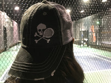 "Load image into Gallery viewer, Midnight ""Paddle n Skull"" TRUCKER Skid Lid"