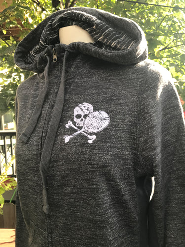 Distressed Midnight Paddle Hoodie - Thumbholes