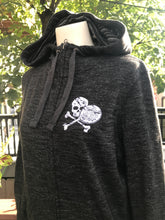 Load image into Gallery viewer, Distressed Midnight Paddle Hoodie - Thumbholes