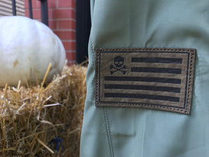 Midnight Bomber - Leather Patch