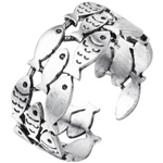 Sterling Silver Fish Rings